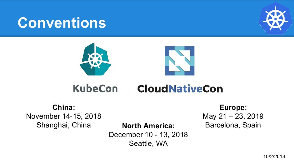 Conventions Europe: May 21 – 23, 2019 Barcelona...