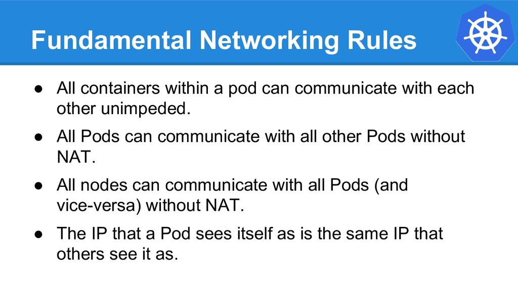 Fundamental Networking Rules ● All containers w...