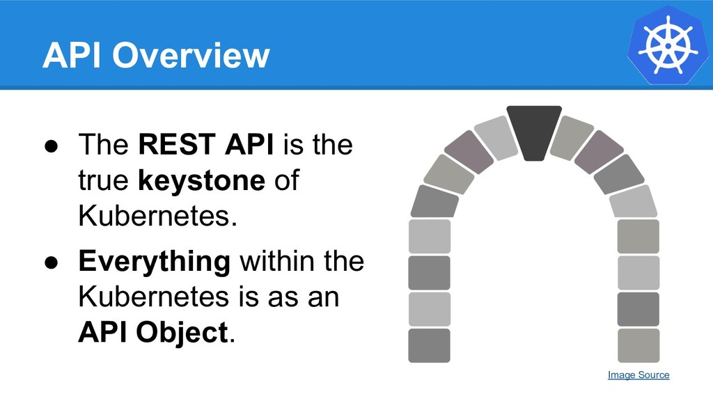 API Overview ● The REST API is the true keyston...