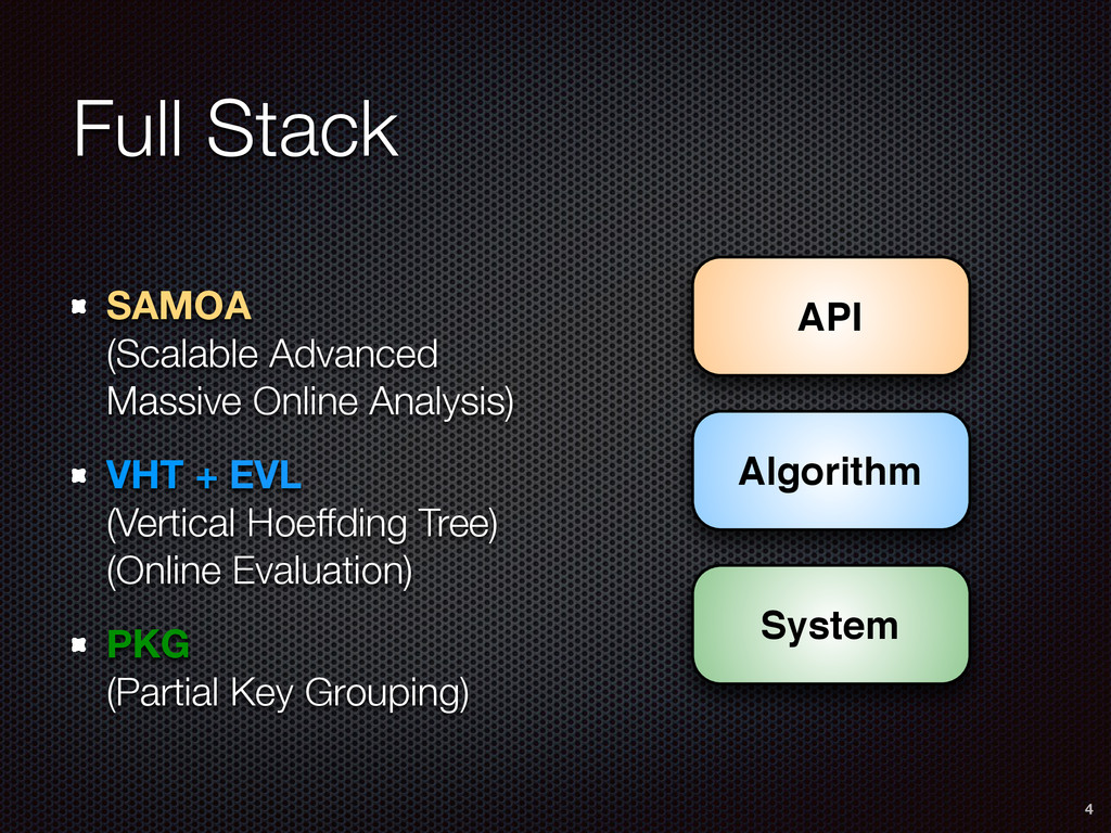 Full Stack SAMOA (Scalable Advanced Massive On...
