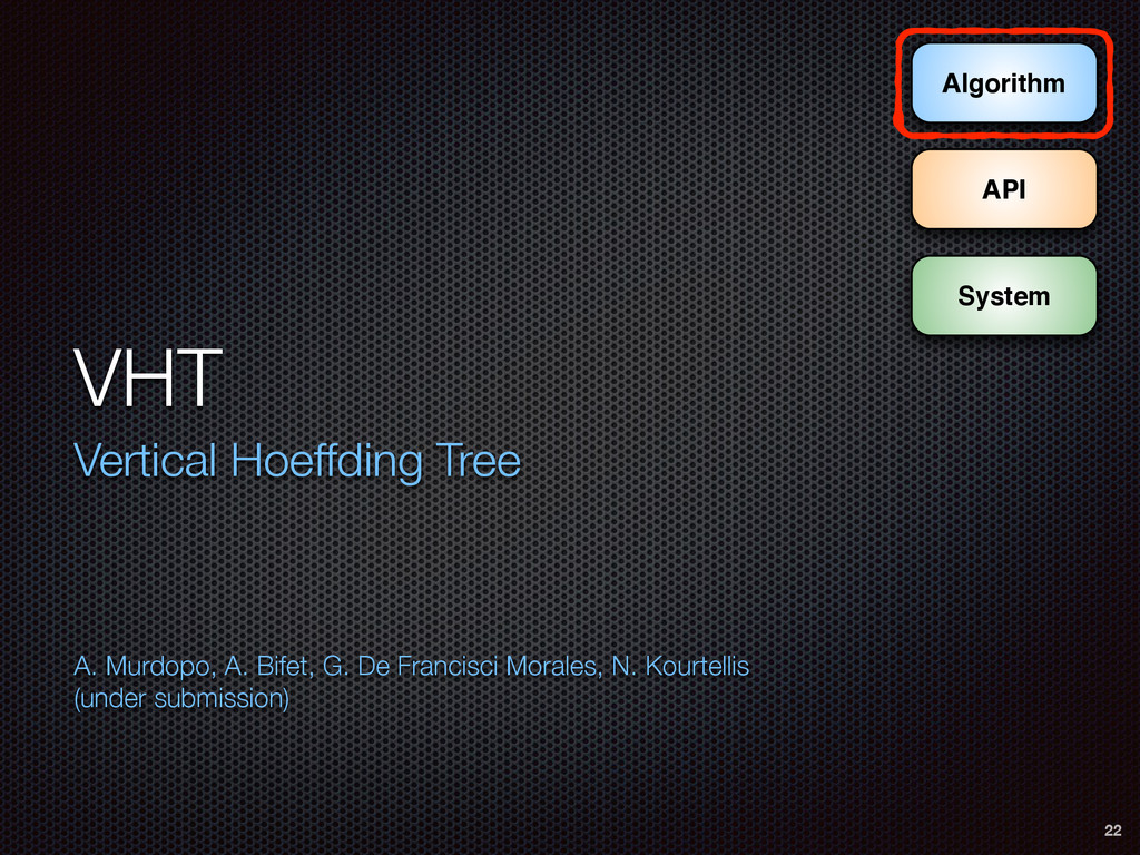 VHT Vertical Hoeffding Tree A. Murdopo, A. Bif...