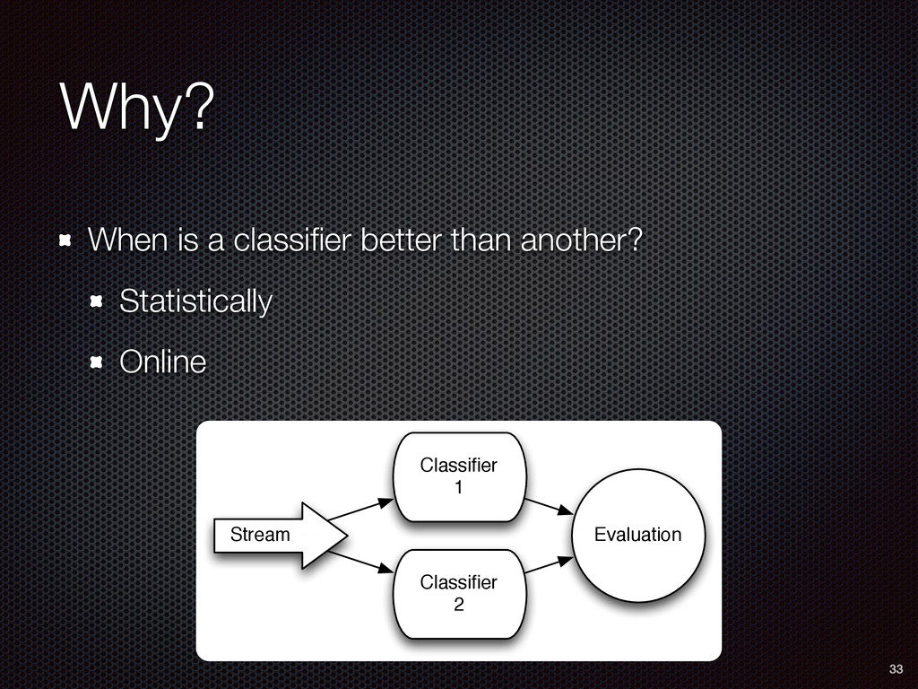 Why? When is a classifier better than another? S...