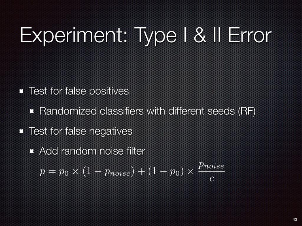 Experiment: Type I & II Error Test for false po...