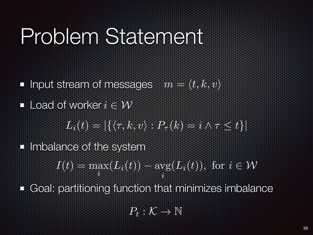Problem Statement Input stream of messages Load...