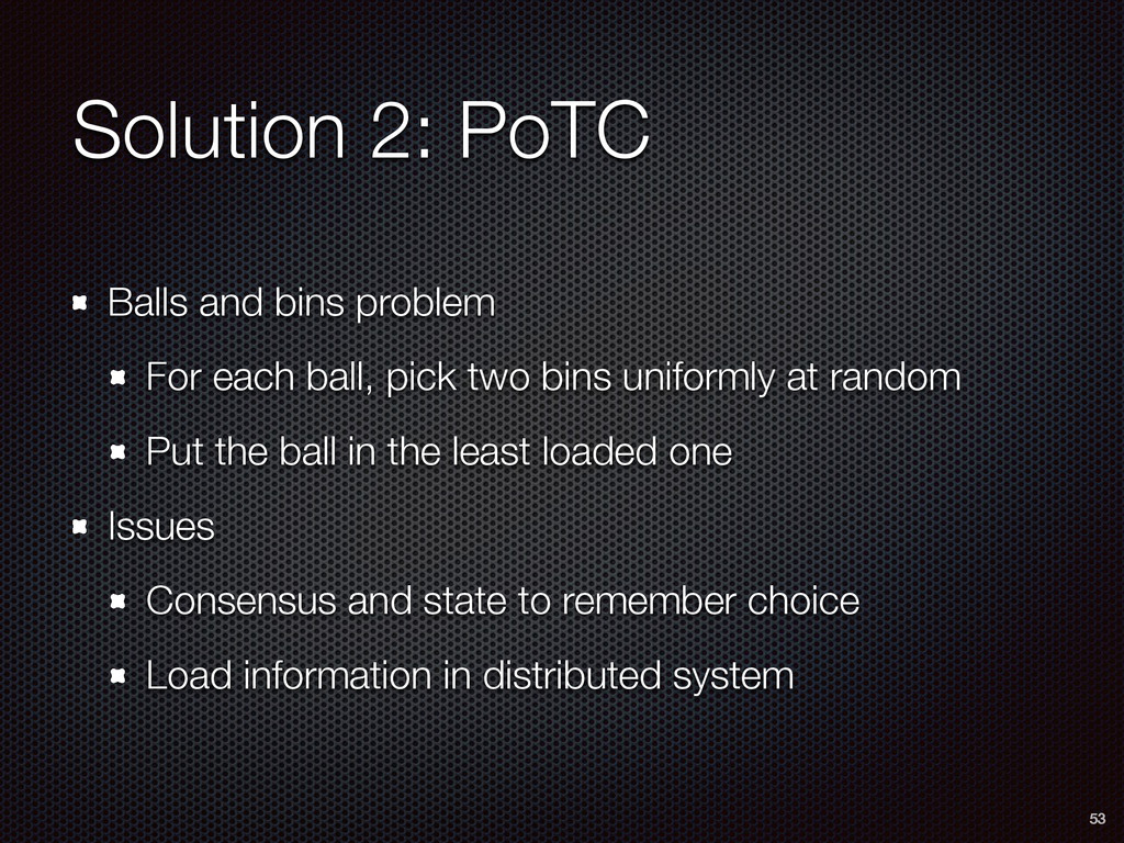Solution 2: PoTC Balls and bins problem For eac...
