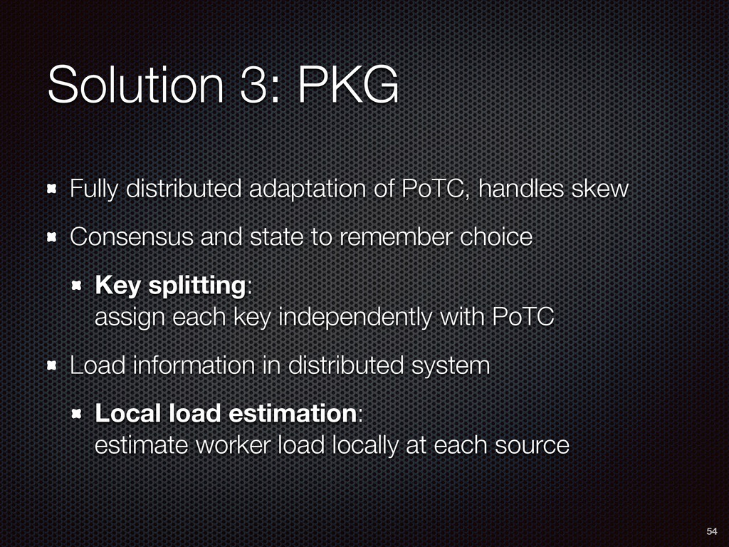 Solution 3: PKG Fully distributed adaptation of...