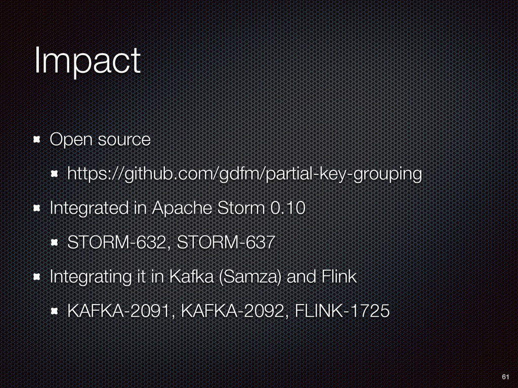 Impact Open source https://github.com/gdfm/part...