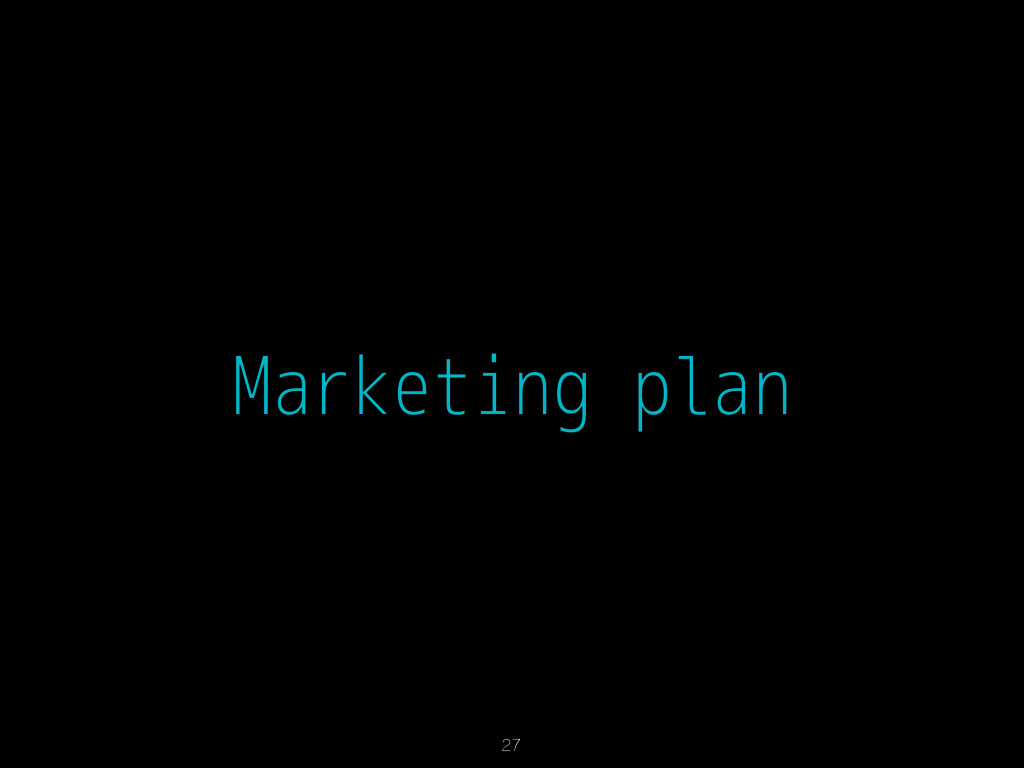 Marketing plan 27