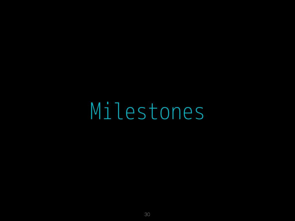Milestones 30