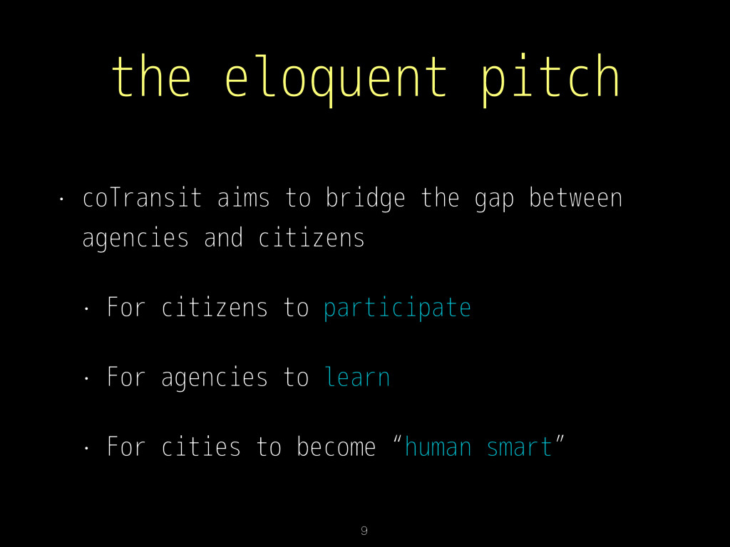 the eloquent pitch • coTransit aims to bridge t...