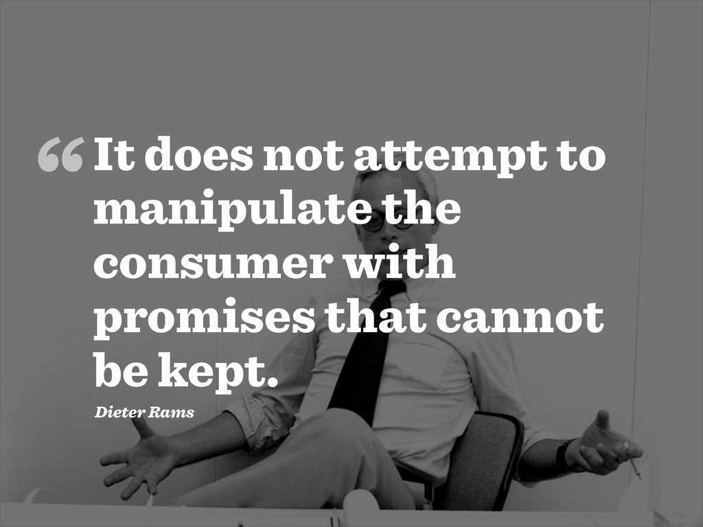 It does not attempt to manipulate the consumer ...