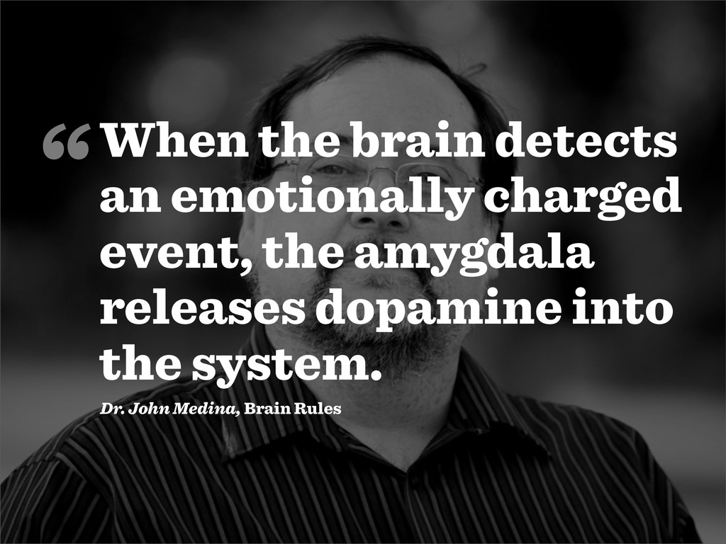 When the brain detects an emotionally charged e...