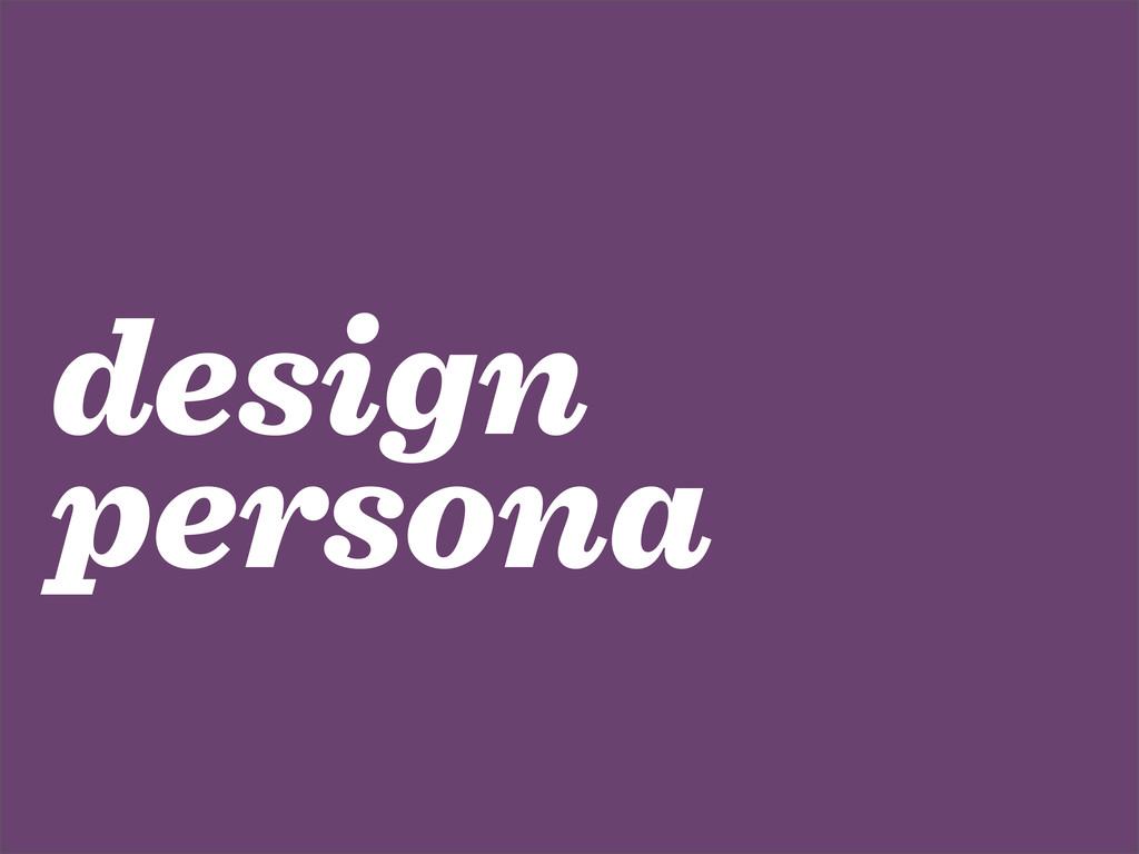 design persona