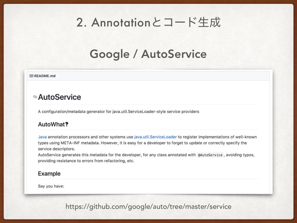 Google / AutoService 2. Annotationͱίʔυੜ https:...