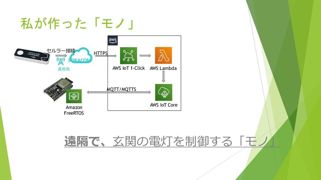 私が作った「モノ」 SORACOM Amazon FreeRTOS AWS IoT 1-Cli...