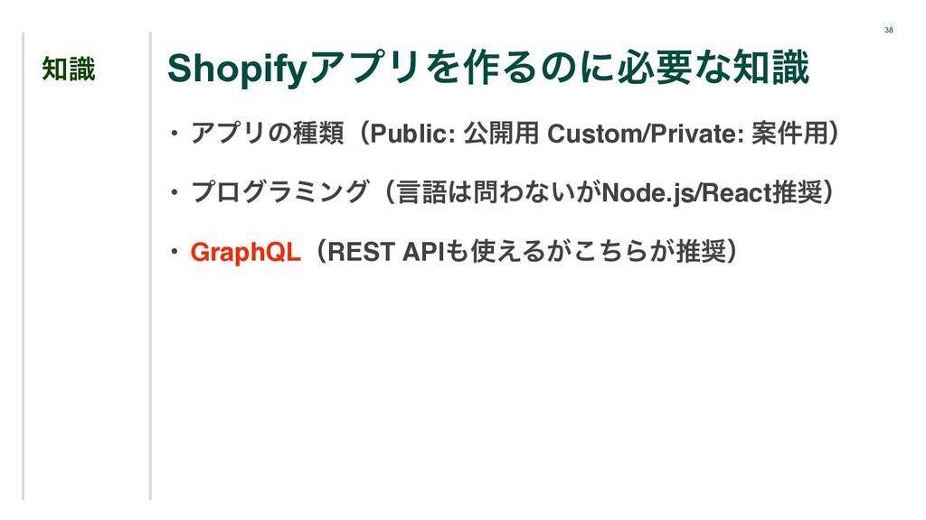 38 ࣝ • ΞϓϦͷछྨʢPublic: ެ։༻ Custom/Private: Ҋ݅༻ʣ...