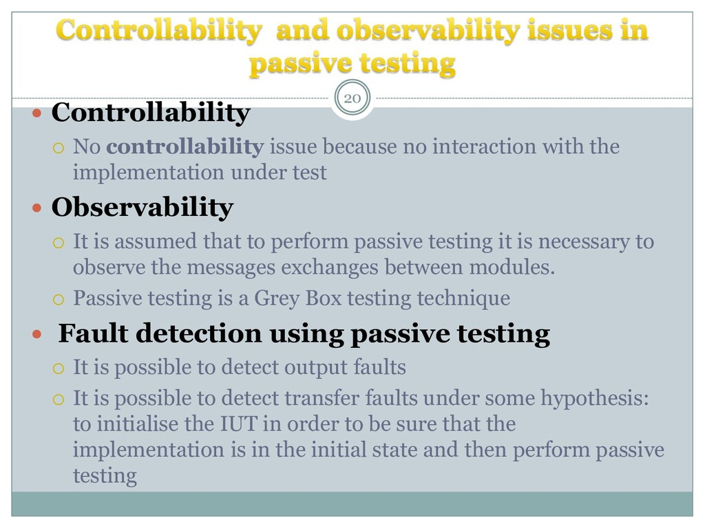  Controllability  No controllability issue be...
