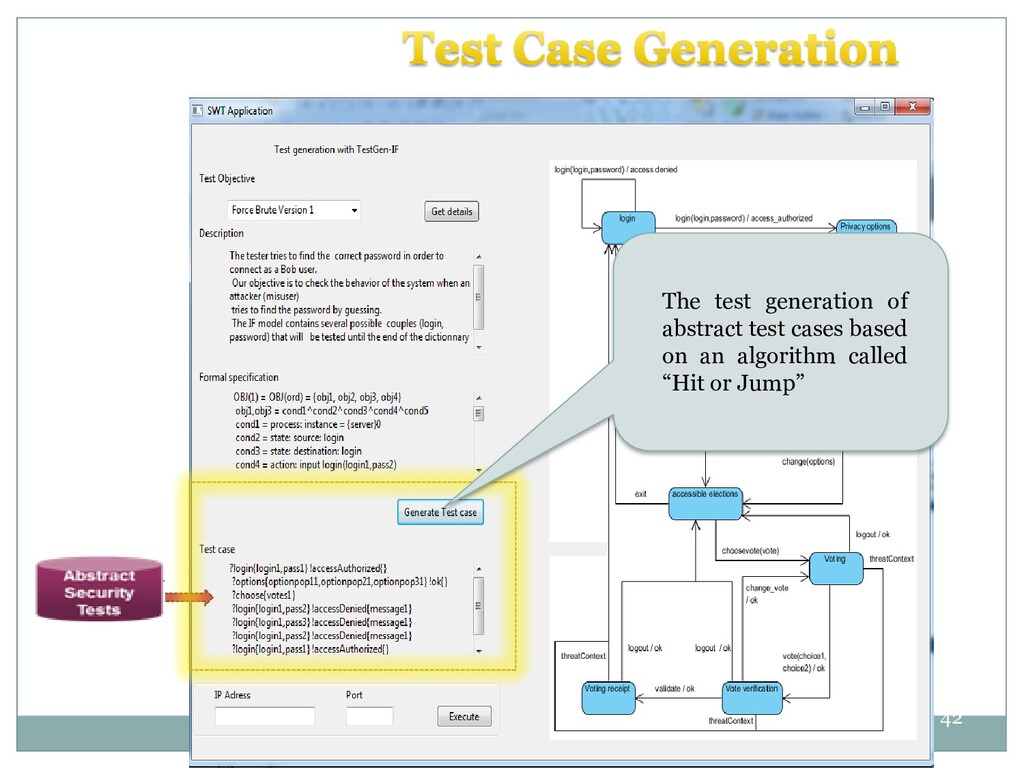 42 42 The test generation of abstract test case...