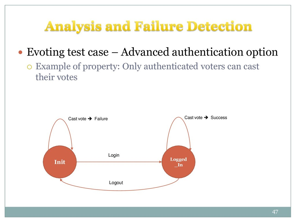  Evoting test case – Advanced authentication o...