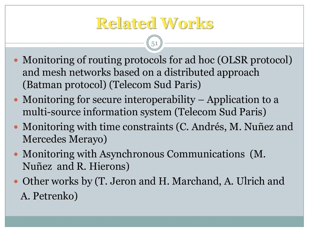  Monitoring of routing protocols for ad hoc (O...