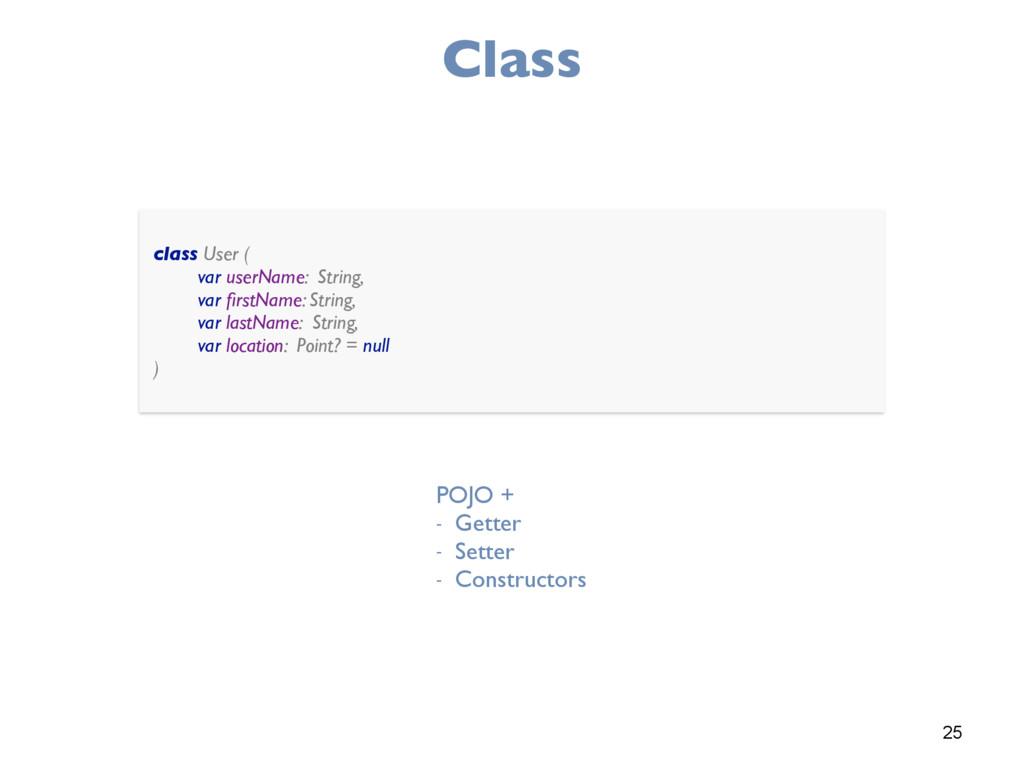 25 Class class User ( var userName: String, v...