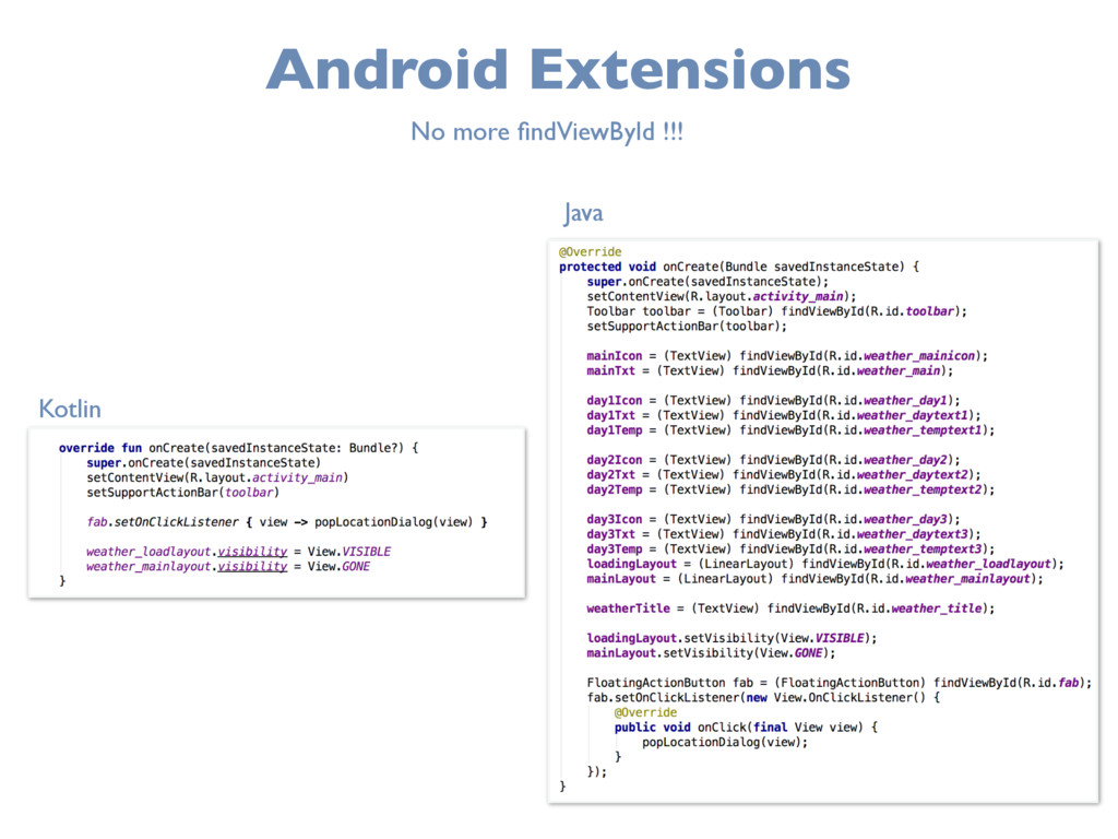 Android Extensions No more findViewById !!! Kotl...