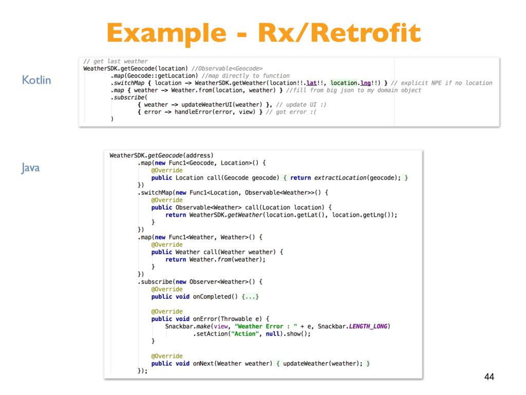 44 Example - Rx/Retrofit Kotlin Java