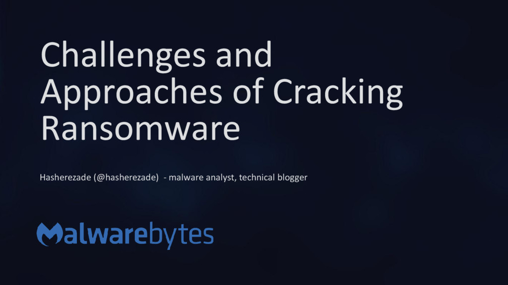 Challenges and Approaches of Cracking Ransomwar...