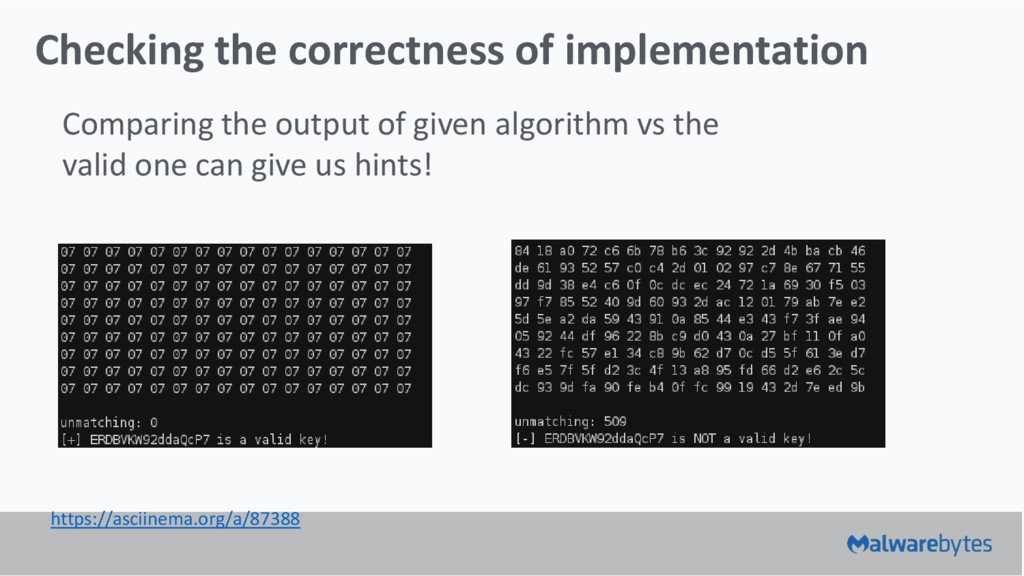 Checking the correctness of implementation Comp...
