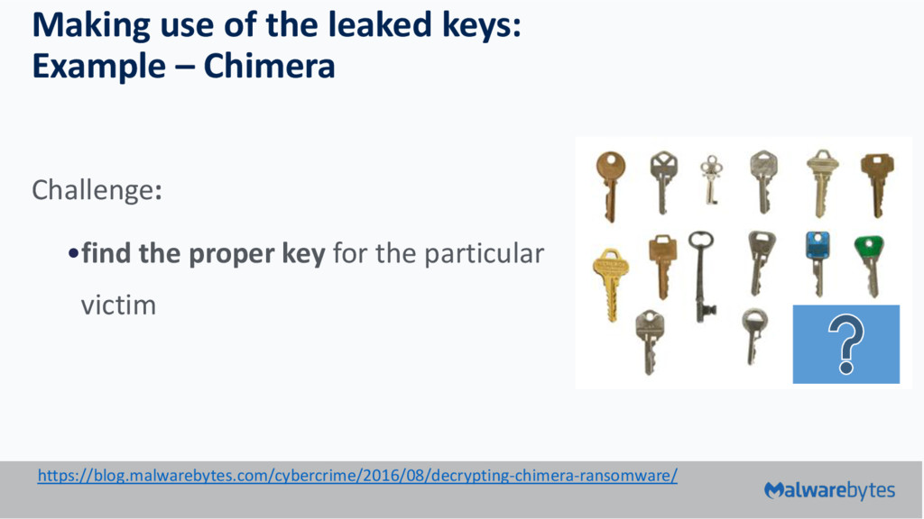 Making use of the leaked keys: Example – Chimer...