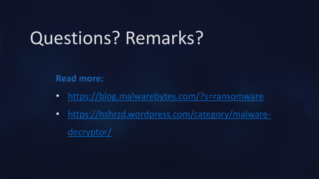 Questions? Remarks? Read more: • https://blog.m...