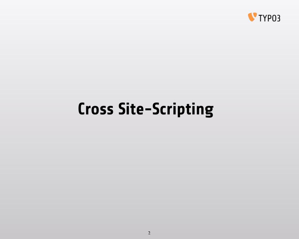 Cross Site-Scripting 2