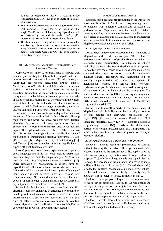number of MapReduce models; Clustering Large Ap...