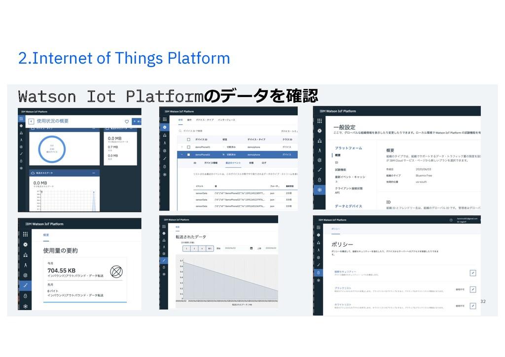 2.Internet of Things Platform Watson Iot Platfo...