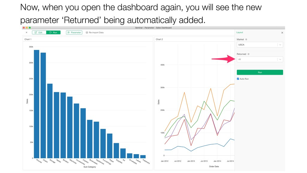 Now, when you open the dashboard again, you wil...