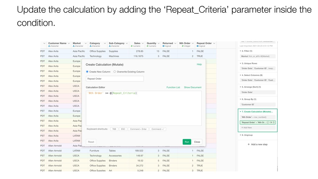 Update the calculation by adding the 'Repeat_Cr...