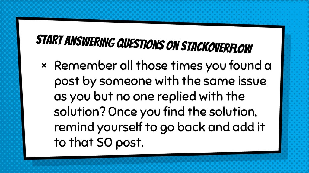 Start answering questions on StackOverflow × Re...