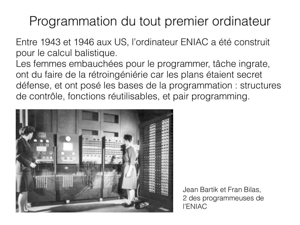 Entre 1943 et 1946 aux US, l'ordinateur ENIAC a...