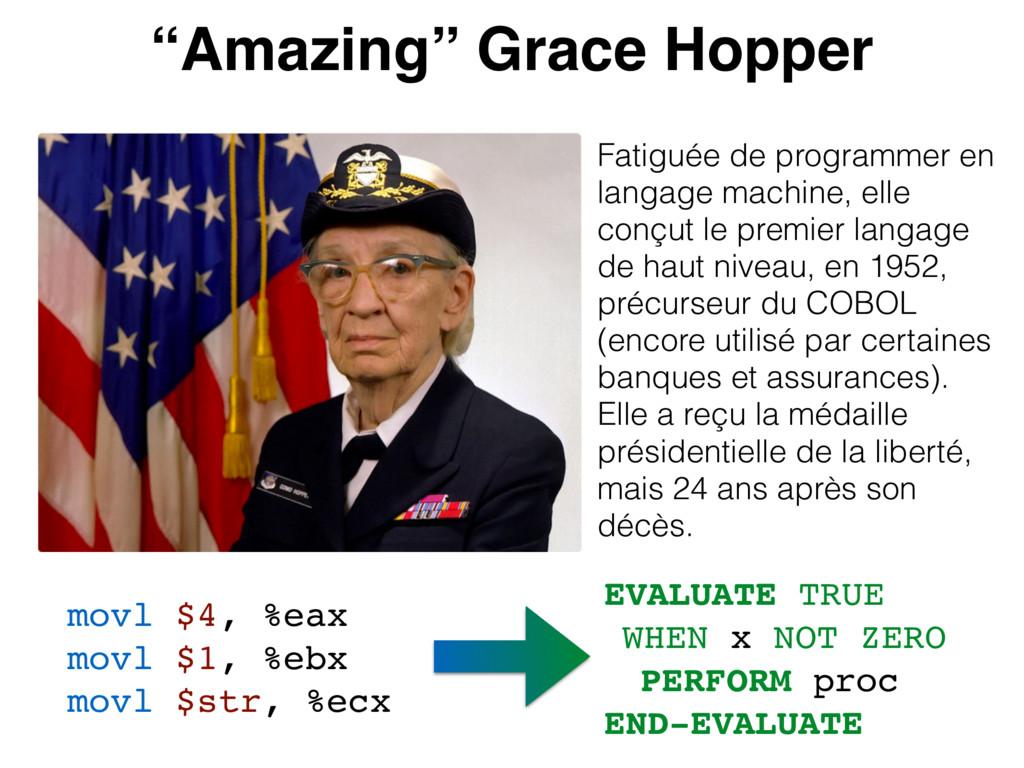 """""""Amazing"""" Grace Hopper Fatiguée de programmer e..."""