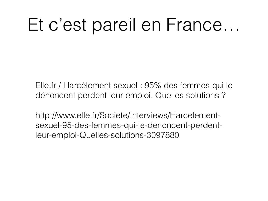 Elle.fr / Harcèlement sexuel : 95% des femmes q...
