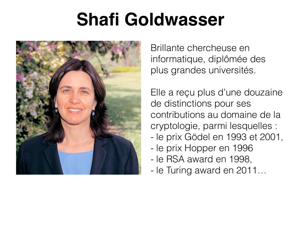 Shafi Goldwasser Brillante chercheuse en informa...