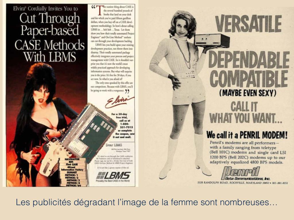 Les publicités dégradant l'image de la femme so...