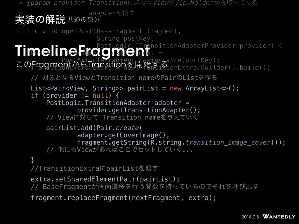 2018.2.8 TimelineFragment ͜ͷFragment͔ΒTransitio...