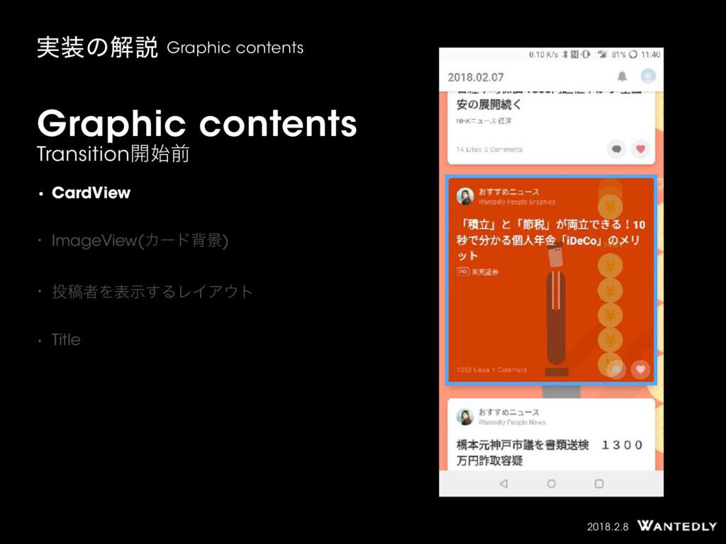 2018.2.8 Graphic contents Transition։લ ࣮ͷղઆ G...