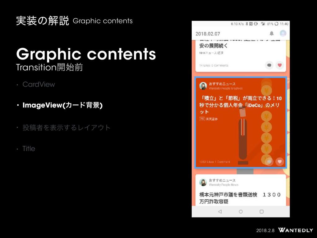 2018.2.8 Graphic contents ࣮ͷղઆ Graphic content...
