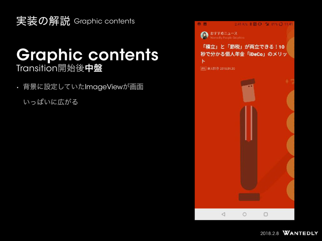 2018.2.8 Graphic contents Transition։ޙத൫ • എܠʹ...