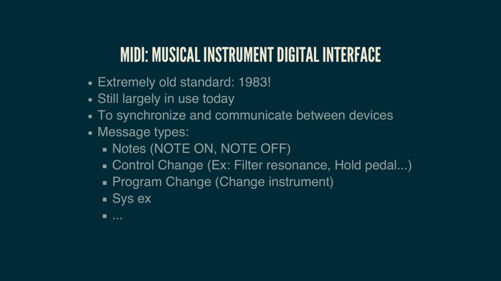 MIDI: MUSICAL INSTRUMENT DIGITAL INTERFACE Extr...