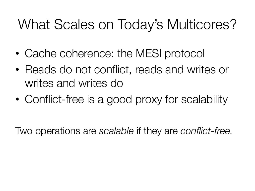 What Scales on Today's Multicores?