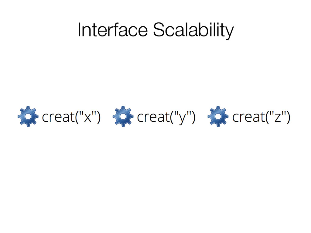 Interface Scalability