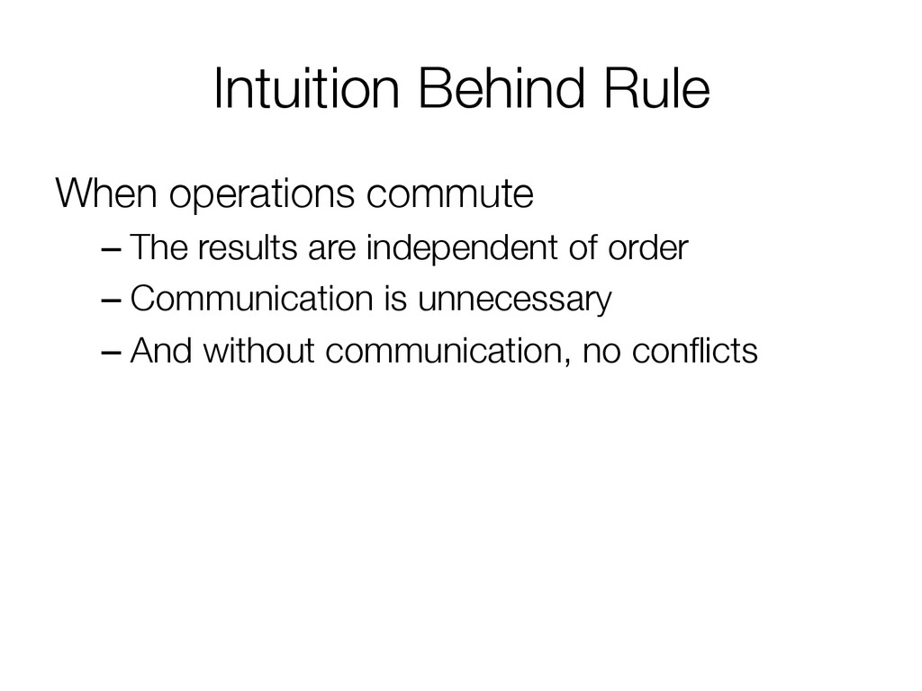 Intuition Behind Rule